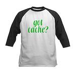 Got Cache? - Green Kids Baseball Jersey