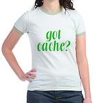 Got Cache? - Green Jr. Ringer T-Shirt