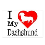 I Love My Dachshund Postcards (Package of 8)