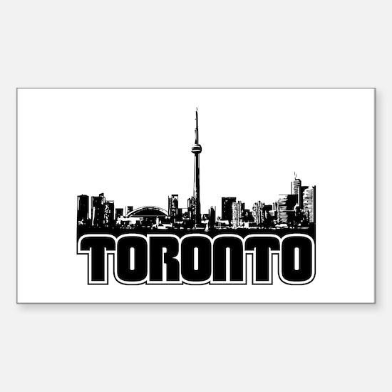 Toronto Skyline Sticker (Rectangle)