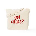 Got Cache? - Red Tote Bag