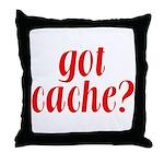 Got Cache? - Red Throw Pillow