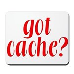 Got Cache? - Red Mousepad