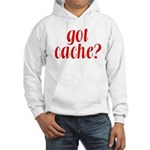 Got Cache? - Red Hooded Sweatshirt