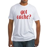 Got Cache? - Red Fitted T-Shirt