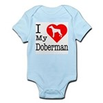 I Love My Doberman Pinscher Infant Bodysuit
