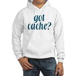 Got Cache? - Blue Hooded Sweatshirt