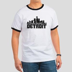 Detroit Skyline Ringer T