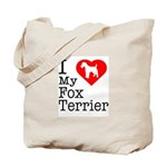 I Love My Fox Terrier Tote Bag