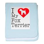 I Love My Fox Terrier Infant Blanket