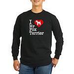 I Love My Fox Terrier Long Sleeve Dark T-Shirt