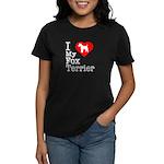 I Love My Fox Terrier Women's Dark T-Shirt