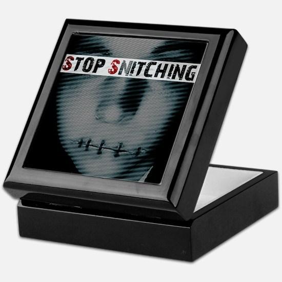 Funny Stop snitching Keepsake Box