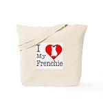 I Love My Frenchie Tote Bag