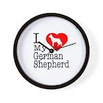 I Love My German Shepherd Wall Clock