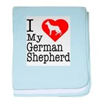 I Love My German Shepherd Infant Blanket