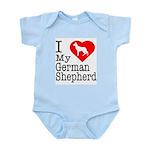 I Love My German Shepherd Infant Bodysuit