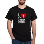 I Love My Great Dane Dark T-Shirt