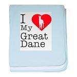 I Love My Great Dane Infant Blanket