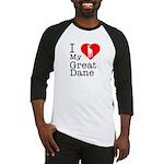 I Love My Great Dane Baseball Jersey
