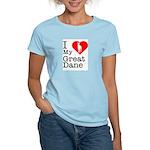 I Love My Great Dane Women's Light T-Shirt