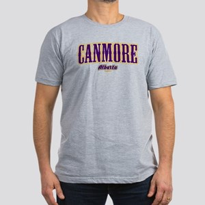 Canmore West Men's Fitted T-Shirt (dark)