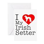 I Love My Irish Setter Greeting Cards (Pk of 10)