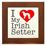 I Love My Irish Setter Framed Tile