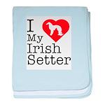 I Love My Irish Setter Infant Blanket