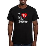 I Love My Irish Setter Men's Fitted T-Shirt (dark)