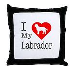 I Love My Labrador Retriever Throw Pillow