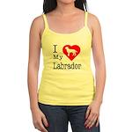 I Love My Labrador Retriever Jr. Spaghetti Tank