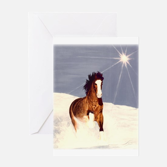 Starlight Snow Run Greeting Card