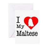 I Love My Maltese Greeting Cards (Pk of 10)
