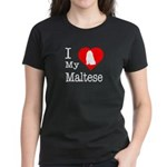 I Love My Maltese Women's Dark T-Shirt
