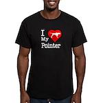 I Love My Pointer Men's Fitted T-Shirt (dark)