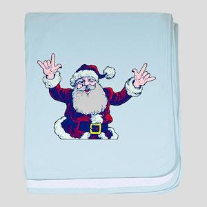 """ASL Santa """"I Love You"""" Infant Blanket"""