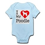 I Love My Poodle Infant Bodysuit