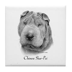 Chinese Shar-Pei Tile Coaster