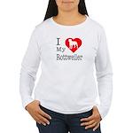 I Love My Rottweiler Women's Long Sleeve T-Shirt