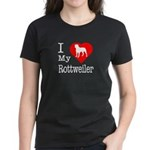 I Love My Rottweiler Women's Dark T-Shirt