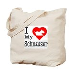 I Love My Schnauzer Tote Bag