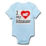 I Love My Schnauzer Infant Bodysuit