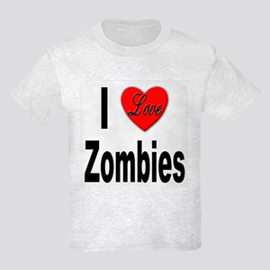 I Love Zombies Kids Light T-Shirt