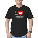 I Love My Schnauzer Men's Fitted T-Shirt (dark)