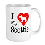 I Love My Scottish Terrier Large Mug