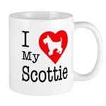 I Love My Scottish Terrier Mug