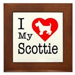 I Love My Scottish Terrier Framed Tile