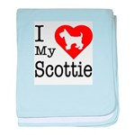 I Love My Scottish Terrier Infant Blanket