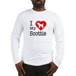I Love My Scottish Terrier Long Sleeve T-Shirt